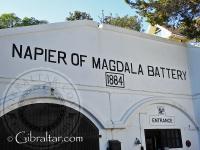 Entrada a la Batería de Napier de Magdala
