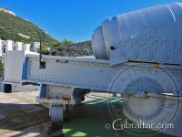 Mecanismos de la parte de atrás del cañón de 100 toneladas en Gibraltar