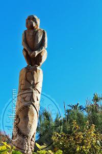 Estatua de un mono, Jardín Botánico de la Alameda.