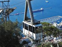 The Cable Car Ride heading up.