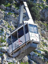 The Cable Car Ride in Gibraltar