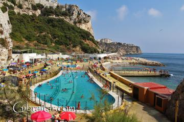 Camp Bay pool in Gibraltar