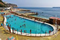 Big pool at Camp Bay in Gibraltar