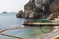 Camp Bay pier in Gibraltar