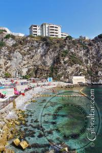 Clear water at Little Bay in Gibraltar