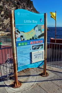 Little Bay Signpost in Gibraltar
