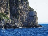 Uno de los extremos de Little Bay en Gibraltar