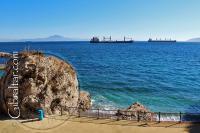 Imagen desde Camp Bay hacia la Bahía de Gibraltar y España