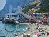 Beach of Catalan Bay in Gibraltar