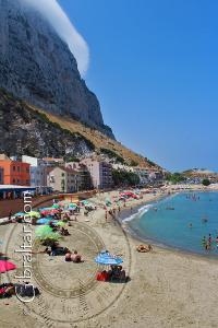 Catalan Bay Beach in Gibraltar