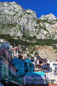 Catalan bay village and the Rock of Gibraltar
