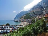 Parking at Catalan Bay in Gibraltar