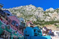 Village colours of Catalan Bay in Gibraltar