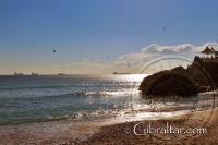 Catalan Bay, durante los meses de invierno en Gibraltar