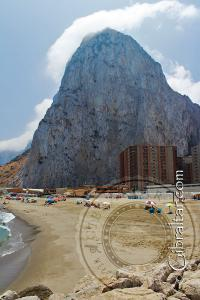 Eastern beach and the Rock of Gibraltar