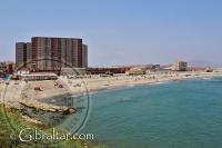 Playa de Levante, mirando hacia España, Gibraltar