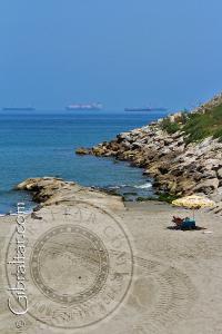 Extremo de Eastern beach o Playa de Levante en Gibraltar