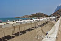 La Playa de Levante, en Gibraltar, con dirección al sur