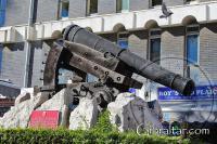 Koehler depression gun carriage at Casemates in Gibraltar