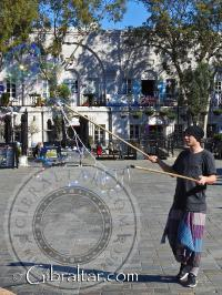 Bubbles in Casemates Square