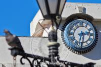 Main clock of Grand Casemates Square in Gibraltar
