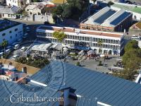Grand Casemates Square in Gibraltar from above