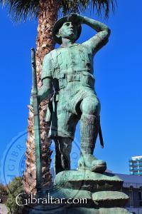 Monumento al soldado de la Fuerza de Defensa de Gibraltar