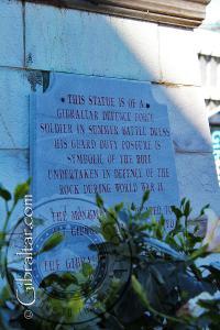 Placa del Monumento al Soldado de la Fuerza de Defensa de Gibraltar