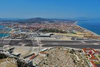 Airport runway as seen from the Great Siege Tunnels