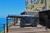 Cannon at the entrance to the Great Siege Tunnels