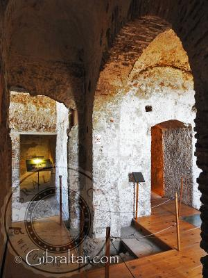 Within the tower of homage at the Moorish Castle
