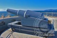 12.5 inch RML Gun at Harding's Battery Europa Point