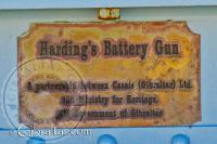 Hardings battery name plaque