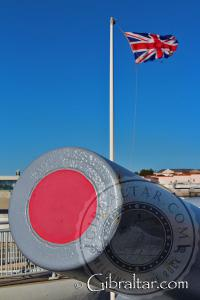 RML Barrel at Hardings Battery in Gibraltar