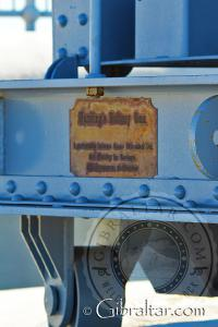 Parte posterior del carro de cañón de la Batería Harding