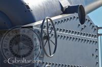 Réplica del carro que se realizó para el cañón de la Batería de Harding
