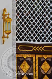 Lámpara y diseño de la Mezquita