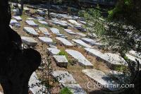 Sepulcros en el Cementerio de Jew's Gate o Puerta de los Judíos