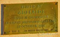 Placed by Adelaide Queen Dowager in 1838