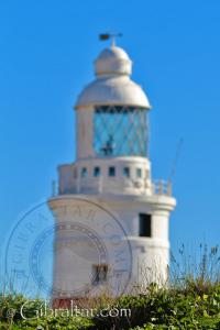 Unfocused Shot of the Trinity Lighthouse in Gibraltar