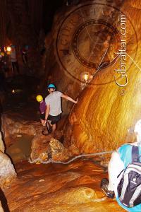 Leaving the lake Lower Saint Michael's Cave