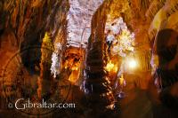 Stalagmites inside the Lower Saint Michael's Cave