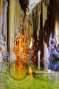 The amazing lake inside the Lower Saint Michael's Cave