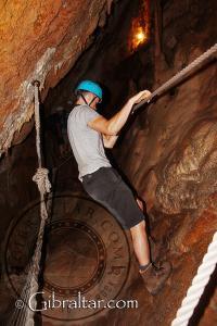 'El ring de boxeo' en el interior de la Cueva Baja de San Miguel