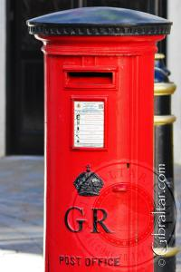 Post Box along Main Street Gibraltar