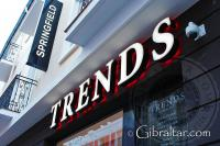Trends store on Main Street Gibraltar