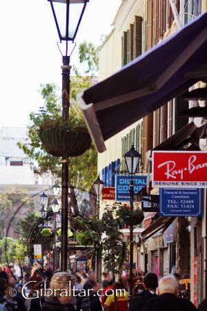 Calle abajo del Main Street, Gibraltar