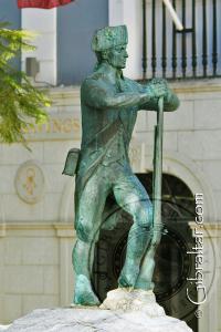 Monumento al cuerpo de soldados formado en 1772