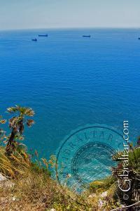 Panorama del Estrecho de Gibraltar, desde la Escalera del Mediterráneo.