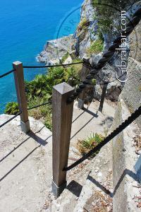 Vista hacia abajo de la Escalera del Mediterráneo